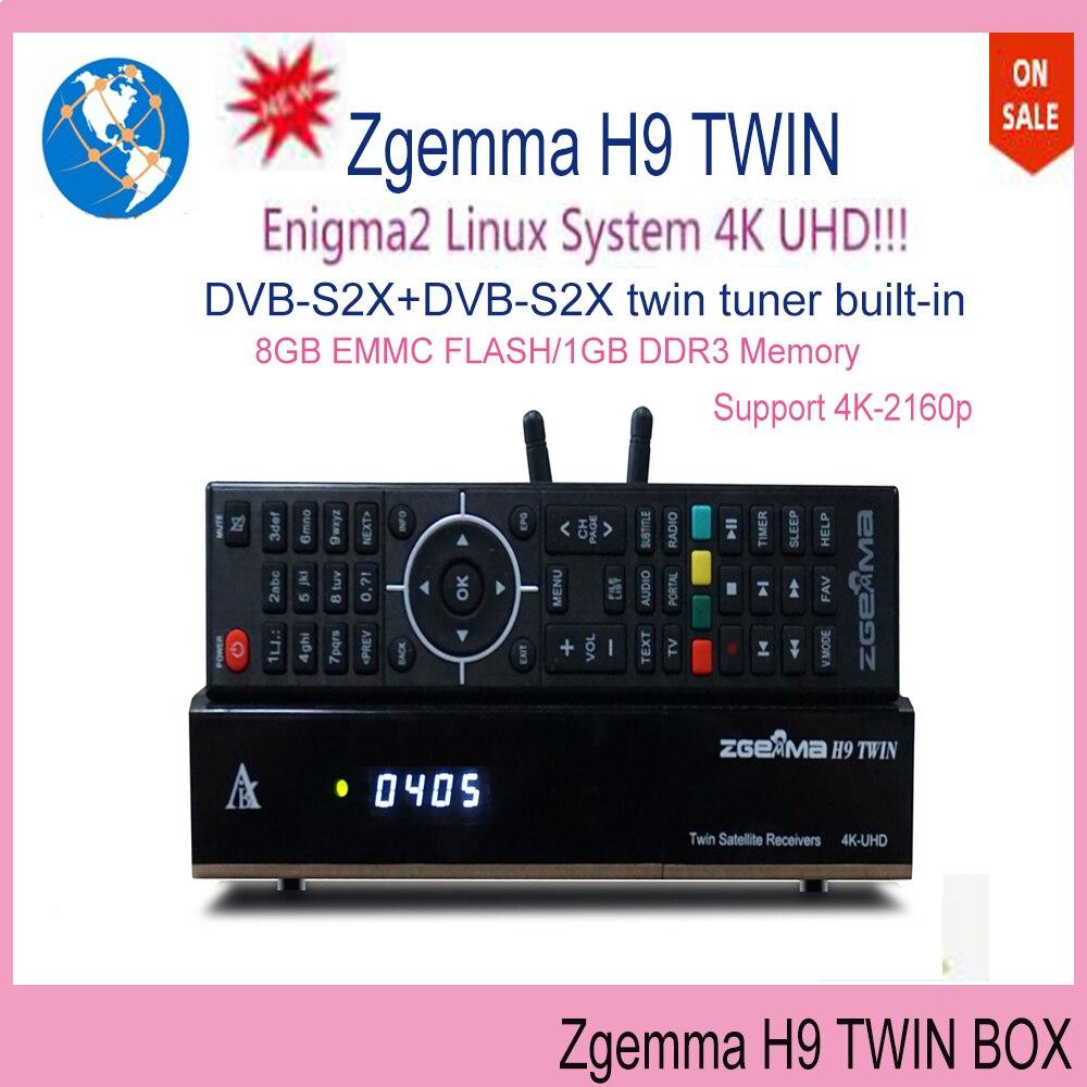IPTV STALKER Satelittle 2S 2xDVB-S Zgemma H9 Twin 4K TV BOX built ...