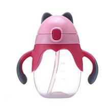 Cute Baby Cup Handle Bottle Training Cup Children Learn Feeding Drinking Water Cup Feeder Baby Using For Babies