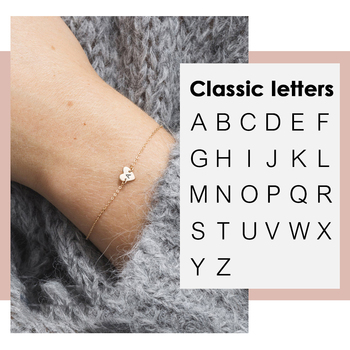 Carlidana Trendy Engrave Alphabet Bracelet women Small Heart Charm Bracelet for women Adjustable 316L Stainless Steel Bracelet stylish heart geometric bracelet for women
