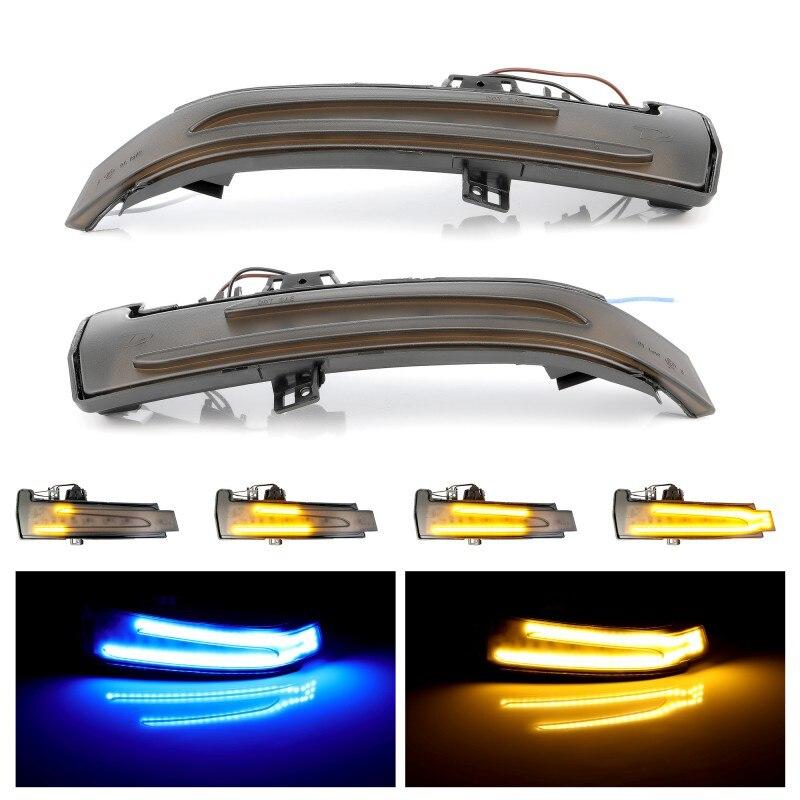 لمرسيدس بنز W176 W246 W204 W212 C117 X156 A B C E S CLA GLA CLS فئة ديناميكية بدوره إشارة LED ضوء الجانب مرآة المؤشر