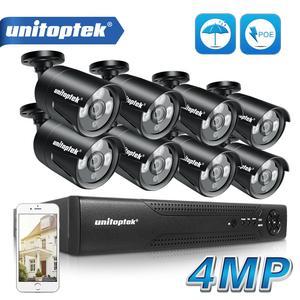 Image 1 - H.265 4MP CCTV Sicherheit Kamera System 4CH 8CH POE NVR Mit IP Kamera CCTV Kit Wasserdichte IP66 Video Überwachung System XMEye