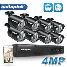 H.265 4MP Cctv Bewakingscamera 4CH 8CH Poe Nvr Met Ip Camera Cctv Kit Waterdichte IP66 Video Surveillance Systeem xmeye