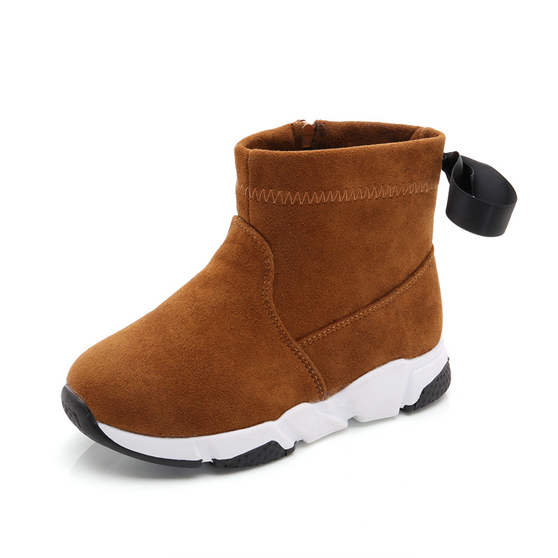 Children Winter Boots For Boys Girls Genuine Kids Outdoor Shoes Toddler Autumn Shoes Fashion Non-slip Warm Martin Boots