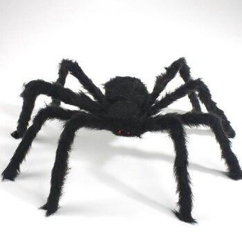 Halloween Horrible grande negro peludo falso Spider tamaño Creep truco o trato decoración de Halloween JPDZS762