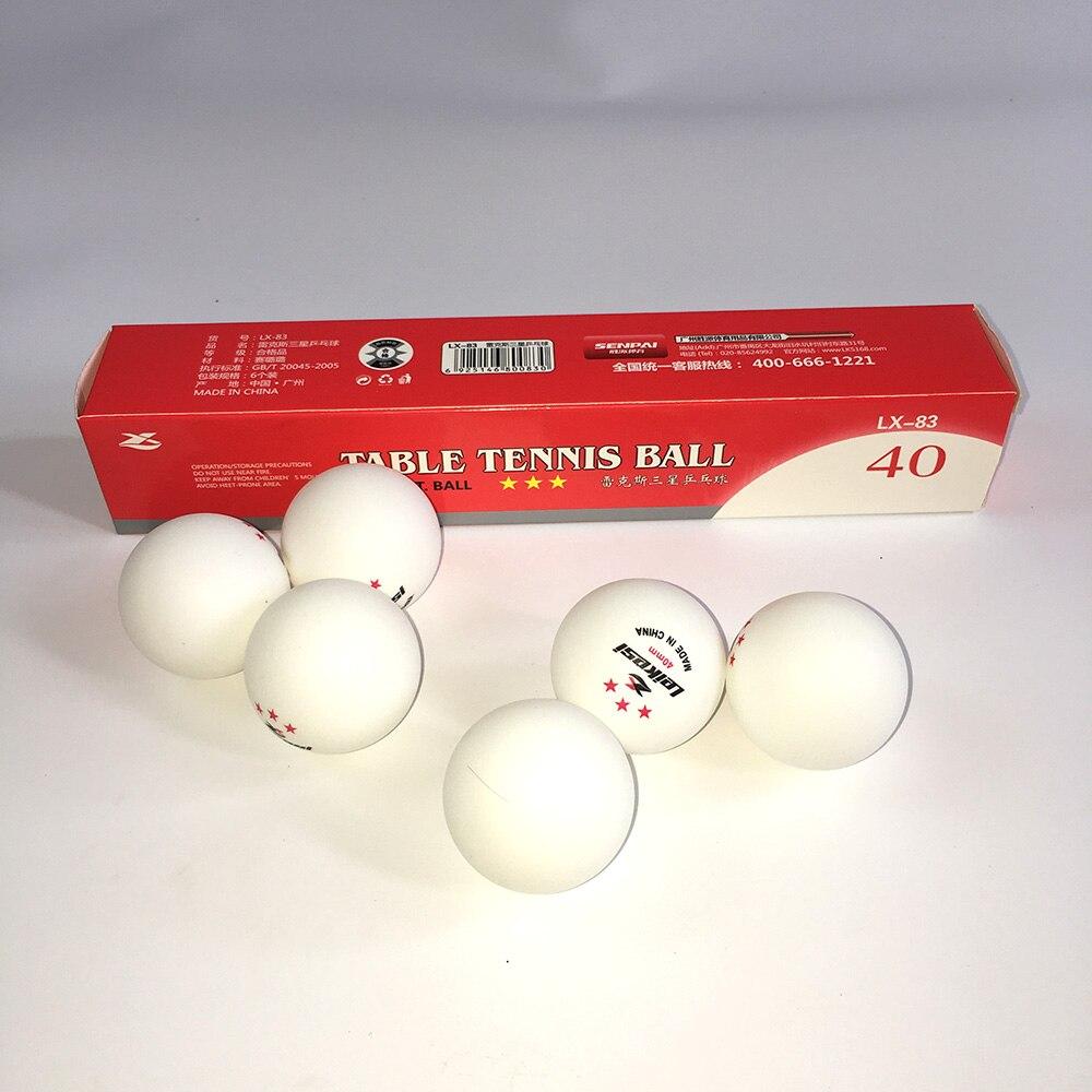 6 pièces/paquet 1 2 3 étoiles niveau 40mm 2.7g balles de Tennis de Table balle de Ping-pong blanc Orange balle de Ping-pong Amateur formation avancée
