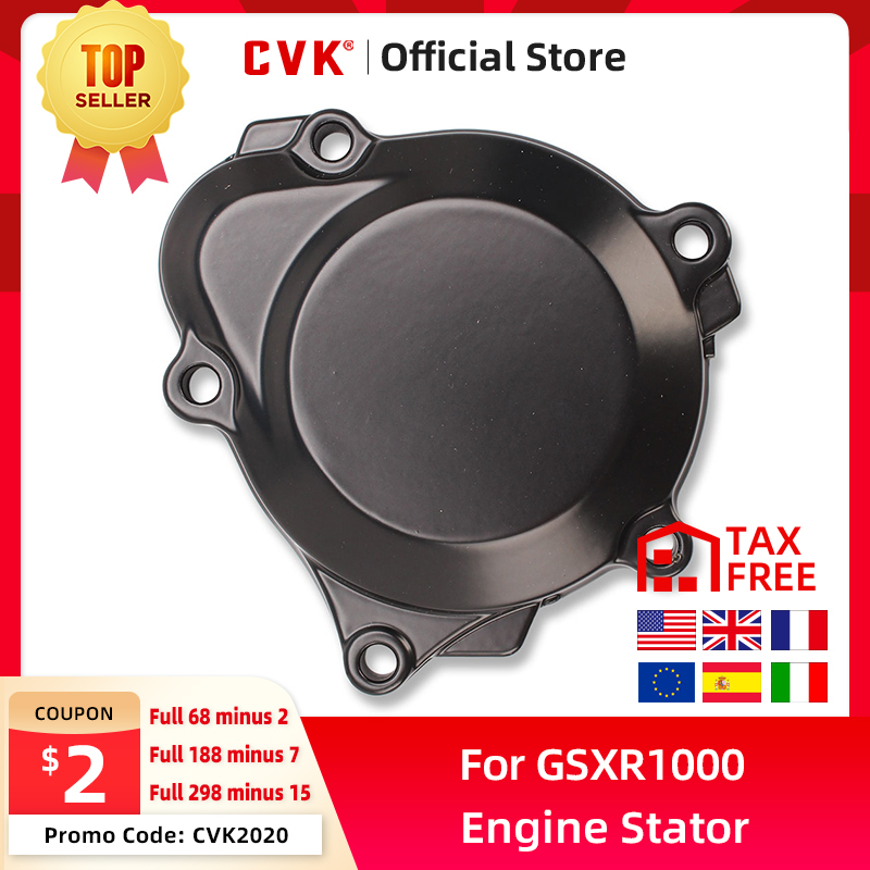 CVK Engine Cover Motor Stator Cover CrankCase Cover Shell For <font><b>Suzuki</b></font> <font><b>GSXR1000</b></font> <font><b>k1</b></font> k2 k3 k4 k5 k6 k7 Motorcycle accessories image