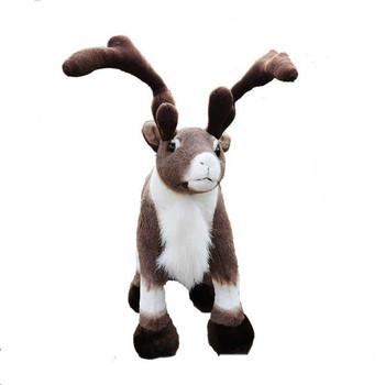 Fancytrader 18'' Simulation Reindeer Plush Toy Soft Stuffed Sika Deer Doll Wapiti Moose Elk Toy Christmas Gift Home Deco 45cm
