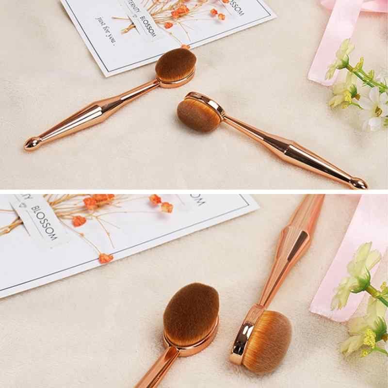 Escovas de maquiagem de ouro base de escova de fundação líquida pincéis de maquiagem escovas de sombra de olho escova de dentes escovas convenientes portáteis