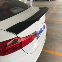 Use for Honda CITY spoiler 2015 2019 year real glossy carbon fiber rear wing sport accessories body kit