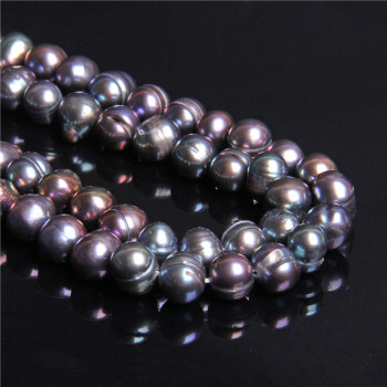 7-8mm Natural round oval black potato pearl beads raw real Cultured freshwater pearls for jewelry Making women