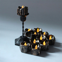 12 pcs/set Black LED Candle Halloween Light Unique Home Decor Decoration Party New DIY Halloween Decoration