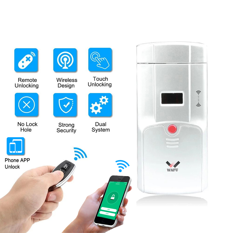 WAFU WF-011W Invisible Keyless Smart Door Lock 433MHz Electronic Door Lock Support IOS Android APP WIFI Control Unlock