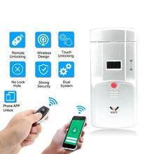 Wafu WF 011W invisível keyless inteligente fechadura da porta 433 mhz eletrônico fechadura da porta suporte ios android app controle wi fi desbloqueio