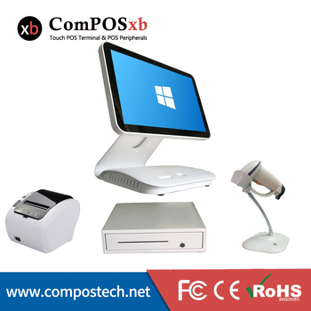 Good quality POS all in one /thermal printer/cash drawer/ whole set restaurant possystems