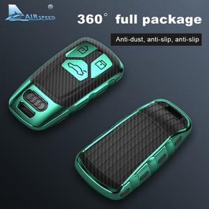 Image 4 - AIRSPEED funda protectora de fibra de carbono para llave de coche, cubierta protectora, para Audi A4, A4L, A6L, A5, B9, Q5, Q7, TT, TTS, 8S, S5, S7