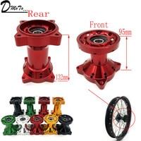 CNC Aluminum Rim Hub 15MM Wheel Axle Hole Front Or Rear Rims Hubs For 10 12 14 17 inch Dirt Pit bike Motocross Wheel Tyre