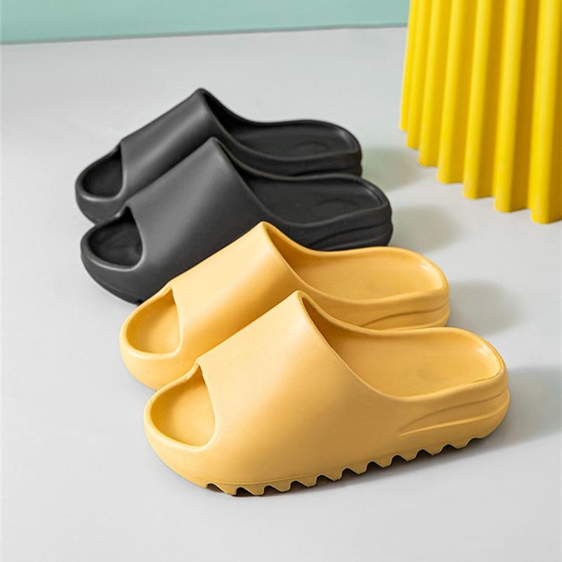 Home donna pantofole con fondo spesso piattaforma tacco grosso soggiorno scivoli da bagno antiscivolo Trend Designer scarpe donna donna 2