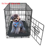 20-pet-kennel-cat-rabbit-folding-steel-crate-animal-playpen-wire-metal-cage-black
