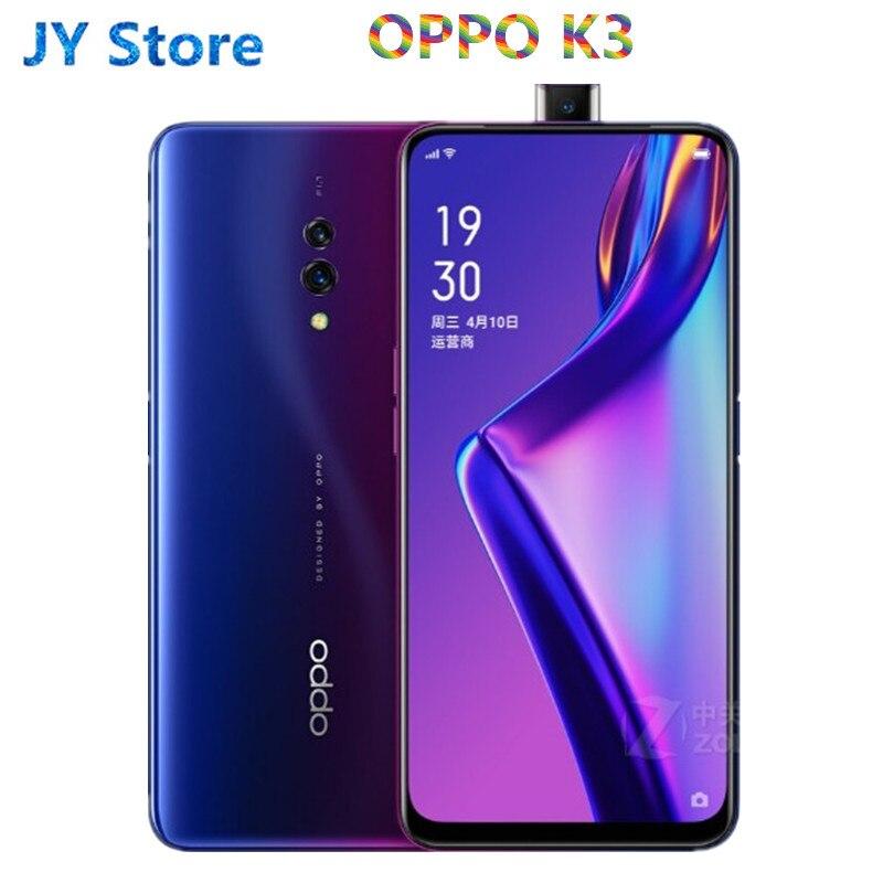 Оригинальный Oppo K3 4 аппарат не привязан к оператору сотовой связи мобильный телефон Snapdragon 710 Android 9,0 6,5