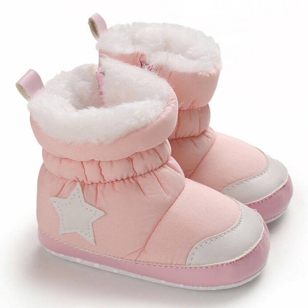 Newborn Baby Winter Snow warm Boots Kids Girl Crib Shoes Booties Prewalker 0-18M