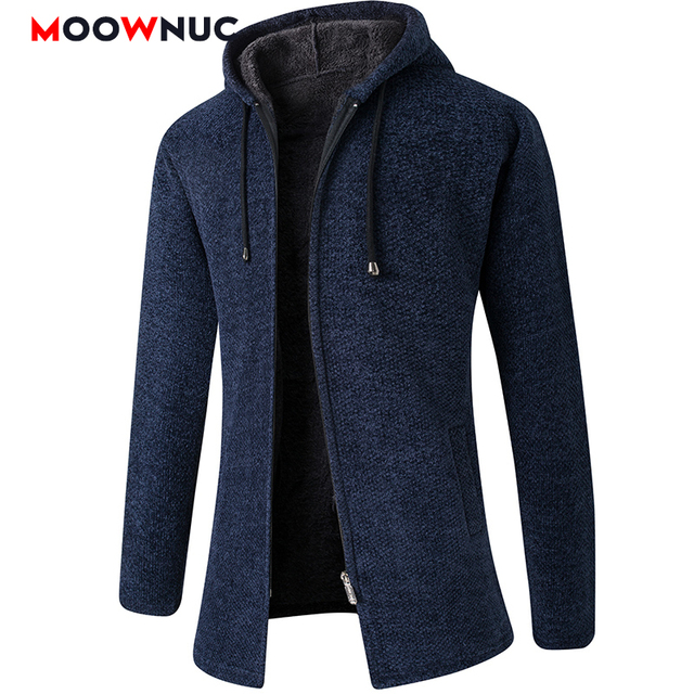 Cardigan 2020 Long Sleeves Solid Men's Fashion Sweaters Coat Thick Casual Slim Classic Keep Warm Male Spring Autumn Hats MOOWNUC