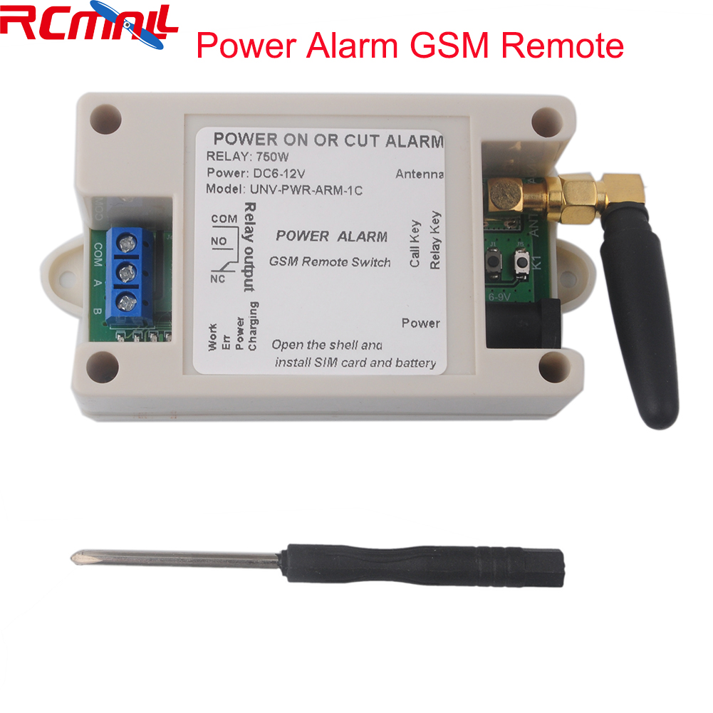 1 Channel Relay Module SMS Call GSM Remote Control Switch Power On Or Cut Alam SIM800C STM32F103CBT6 With Case