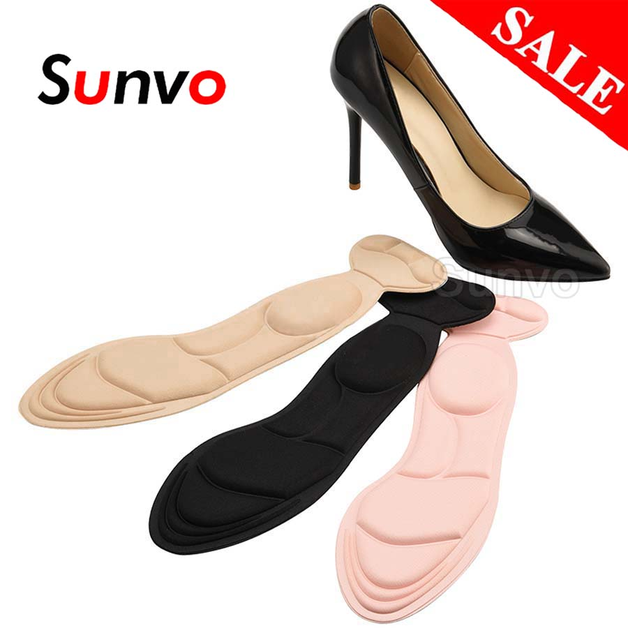 Insoles For Women High Heels Back Protector Heel Grip Liner With Arch Support Shoes Pad Massage Forefoot Foot Care Dropshipping