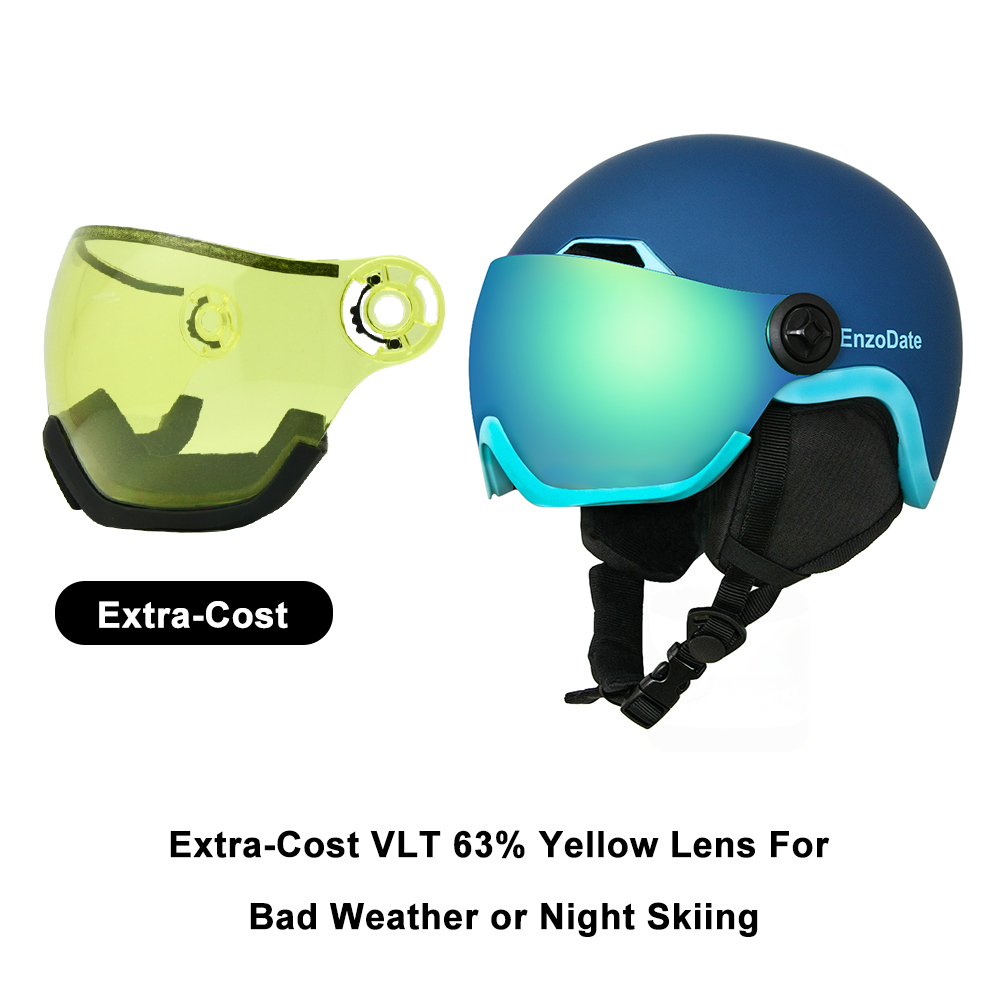 Goggles Snowboard Integrated Men Women Protective Gear Ski Goggles 2-in-1 Ski Helmet