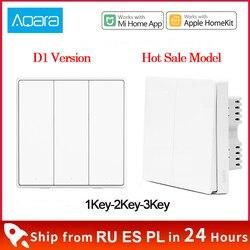 Xiaomi Aqara Wall Switch D1 ZigBee Smart Light Remote Control Wireless Key Zero Line Fire Wire NO Neutral 3 Key Switchs MI Home