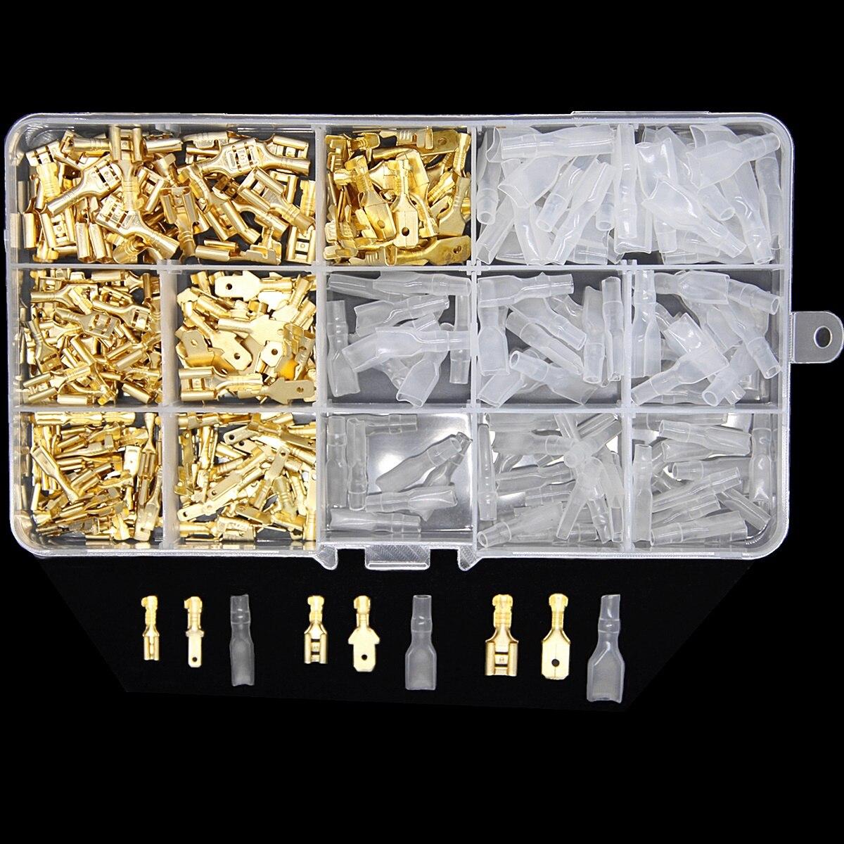 270 шт изолированный мужской женский провод разъем 2,8/4,8/6,3 мм электрические провода обжимные терминалы лопата разъемы Ассорти набор