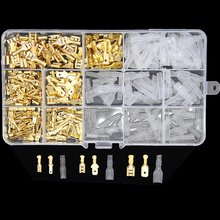 Conector de cable hembra y macho aislado, 270/2,8/4,8mm, terminales de engarce de cables eléctricos, Kit surtido de conectores de pala, 6,3 Uds.