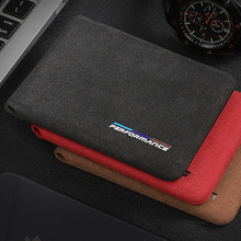 For BMW E46 E90 E60 5/6/7 Series F10 F20 F30 GT F07 X3 f25 X4 X5 X6 Alcantara Bank Credit ID Card Holder Men Package