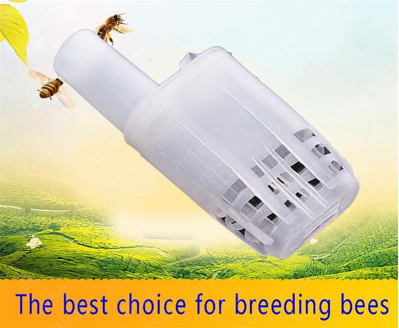 5pcs New Bee Queen Cages Beekeeping Protection Queen Bee Equipment Plastic White Move Queen Bee Beekeeping Tools