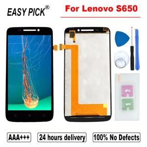 Image 1 - Dành Cho Lenovo S650 Màn Hình Hiển Thị LCD Bộ Số Hóa Cảm Ứng Thay Thế Có Khung Cho Lenovo Ideaphone S650