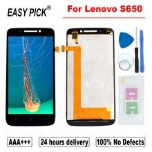 Для Lenovo S650 ЖК дисплей сенсорный экран дигитайзер в сборе Замена с рамкой для Lenovo IdeaPhone S650