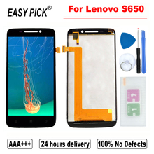 Pour Lenovo S650 LCD écran tactile numériseur assemblée remplacement avec cadre pour Lenovo IdeaPhone S650