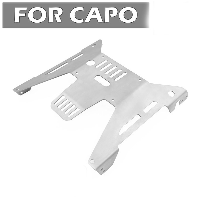 Stainless steel main chassis plate+axle plate for Capo jkmax rc parts