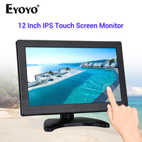 EYOYO EM12Q 12 IPS 1920*1080 FHD Capacitive Touch Monitor LCD Screen TV Computer Display With VGA HDMI USB Speaker For PC CCTV