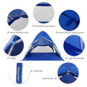 Image 4 - Keer 1 2 사람 야외 해변 텐트 팝업 오픈 캠핑 낚시 텐트 휴대용 방수 자외선 보호 텐트 쉼터