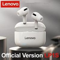 Lenovo-auriculares inalámbricos LP1S con Bluetooth, dispositivo de audio TWS, deportivo, estéreo, HiFi, con micrófono, LP1 S, para teléfonos inteligentes Android e IOS