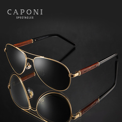 CAPONI 2020 Occhiali Da Sole Polarizzati Pilota UV400 di Alta Qualità Telaio In Legno Occhiali Da Sole Per Gli Uomini di Lusso di Marca di Guida Occhiali CP409