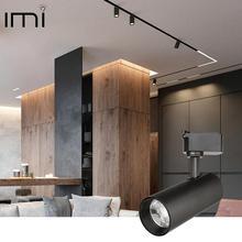 Oświetlenie szynowe LED oprawa COB 12W 20W 30W 40W lampa sufitowa szyna regulowane reflektory sklep Showroom sklep odzieżowy oświetlenie 220V