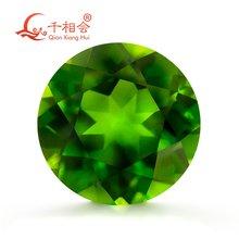 Естественный диопсид камень круглой формы зеленый цвет натуральный