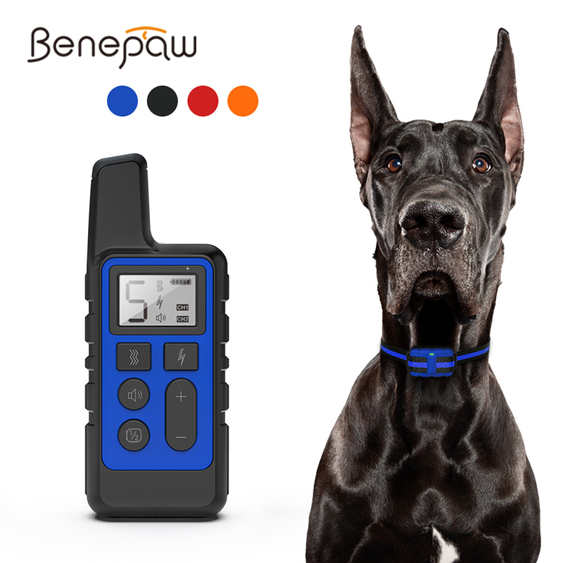 Rechargeable Dog Training Collar 3 Modes Beep Vibration and Shock 100/% Waterproof Up to 1300 Ft Remote Range 5 Shock Levels for Large Small Dogs Dog Shock Collar with Remote