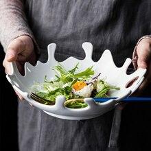 Креативная керамика Коралловая форма обеденная тарелка декоративный фарфоровый полый сервировочный лоток посуда для салата, печенья и хлеба