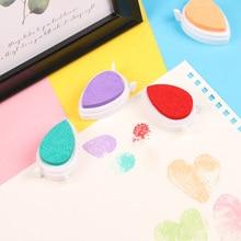 Paint-Pad for Children Inkpad Kids Favors DIY Scrapbooking Fingerprint Toy Ink-Rubber-Stamp