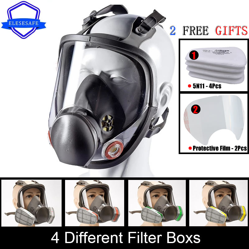 Brand New 6800 Full Face Respirator Dust Gas Mask Replaceable Dual Filters For Painting Spraying Welding Work Safety Protection