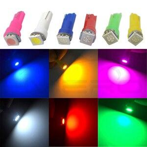 Image 5 - 10X T5 5050 светодиодный керамический приборной панели с боковым клином, белый, красный, синий, зеленый светодиод, автомобильный светильник, внутренняя Лицензионная лампа, 12 В постоянного тока, монолитный блок светодиодов