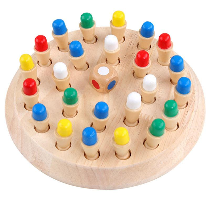 Kids Wooden Memory Match Stick Chess Game Memory Match Training Games And Puzzles Children Early Education US For Birthday Gift