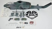 500 Size Fuselage For RC Helicopter Fully Painted Scale Fuselage With Landing Gear